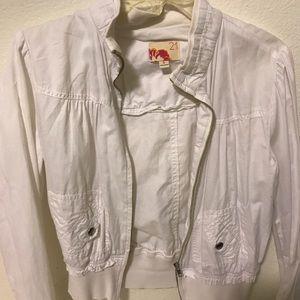 Forever 21 white jacket!